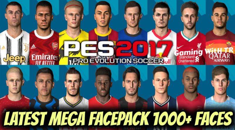 PES 2017 | LATEST MEGA FACEPACK 1000+ FACES | DOWNLOAD & INSTALL