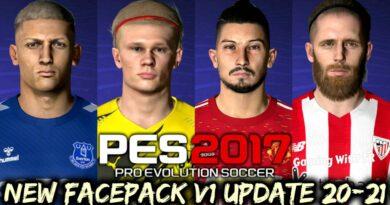 PES 2017 | NEW FACEPACK V1 UPDATE 20-21 | DOWNLOAD & INSTALL