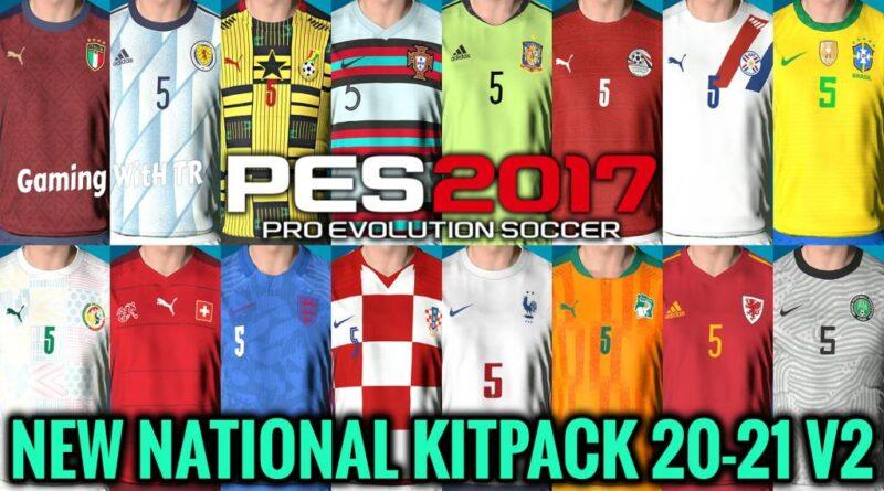 PES 2017 | NEW NATIONAL KITPACK 20-21 V2 | DOWNLOAD & INSTALL
