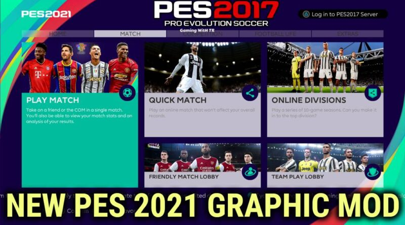 PES 2017 | NEW PES 2021 GRAPHIC MOD | DOWNLOAD & INSTALL