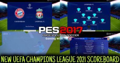 PES 2017 | NEW UEFA CHAMPIONS LEAGUE 2021 SCOREBOARD | DOWNLOAD & INSTALL