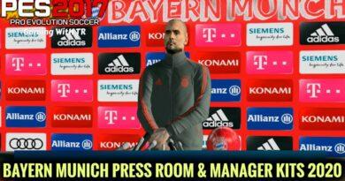 PES 2017 | BAYERN MUNICH PRESS ROOM & MANAGER KITS 2020 | DOWNLOAD & INSTALL