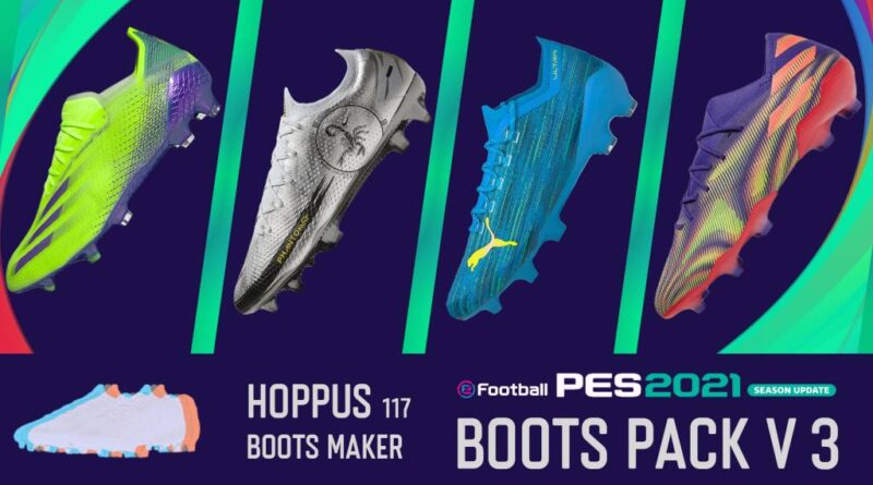 eFootball PES 2021 SEASON UPDATE BOOTS PACK V3 BY Hoppus 117