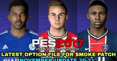 PES 2017 | LATEST OPTION FILE 20-21 | SMOKE PATCH | NOVEMBER UPDATE | DOWNLOAD & INSTALL