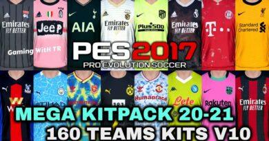 PES 2017 | MEGA KITPACK 20-21 | 160 TEAMS KITS V10 | DOWNLOAD & INSTALL
