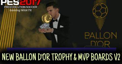 PES 2017 | NEW BALLON D'OR TROPHY & MVP BOARDS V2 | DOWNLOAD & INSTALL