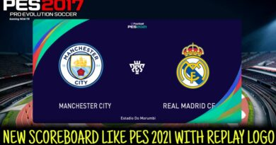 PES 2017 | NEW SCOREBOARD LIKE PES 2021 WITH REPLAY LOGO | DOWNLOAD & INSTALL