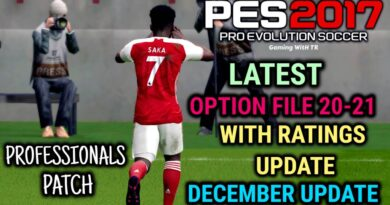 PES 2017 | LATEST OPTION FILE 20-21 WITH RATINGS UPDATE | PROFESSIONALS PATCH | DECEMBER UPDATE | DOWNLOAD & INSTALL