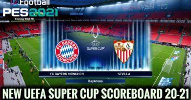 PES 2021 | NEW UEFA SUPER CUP SCOREBOARD 20-21 | DOWNLOAD & INSTALL