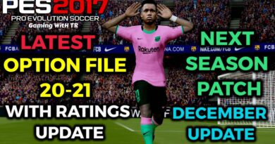 PES 2017 | LATEST OPTION FILE 20-21 WITH RATINGS UPDATE | NEXT SEASON PATCH | DECEMBER UPDATE | DOWNLOAD & INSTALL