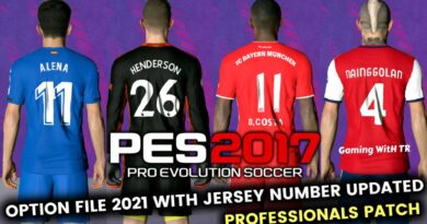 PES 2017 | LATEST OPTION FILE 2021 WITH JERSEY NUMBER UPDATED | PROFESSIONALS PATCH | DOWNLOAD & INSTALL