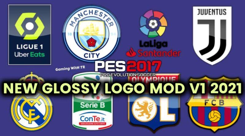 PES 2017 | NEW GLOSSY LOGO MOD V1 2021 | DOWNLOAD & INSTALL