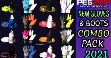 PES 2017 | NEW GLOVES & BOOTS COMBO PACK 2021 BY TISERA09 | DOWNLOAD & INSTALL