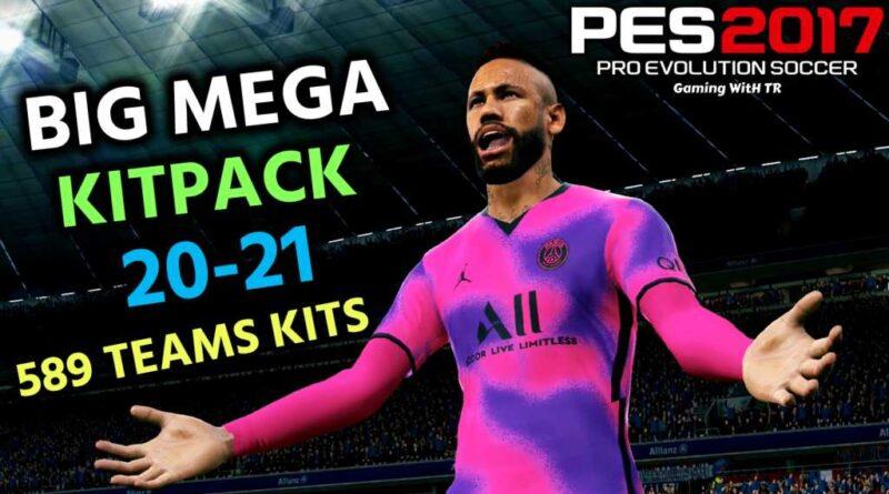 PES 2017 | BIG MEGA KITPACK 20-21 | 589 TEAMS KITS V13 | DOWNLOAD & INSTALL