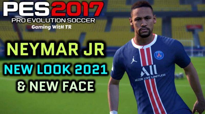 PES 2017 | NEYMAR JR | NEW LOOK 2021 & NEW FACE | DOWNLOAD & INSTALL
