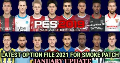 PES 2019 | LATEST OPTION FILE 2021 | SMOKE PATCH 19.3.5 | JANUARY UPDATE | DOWNLOAD & INSTALL