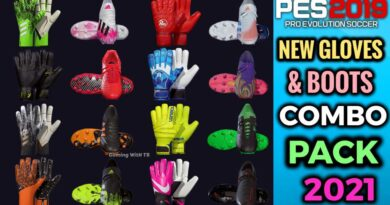 PES 2019   NEW GLOVES & BOOTS COMBO PACK 2021 BY TISERA09   DOWNLOAD & INSTALL