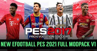 PES 2017   NEW EFOOTBALL PES 2021 FULL MODPACK V1   DOWNLOAD & INSTALL