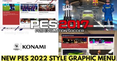 PES 2017   NEW PES 2022 STYLE GRAPHIC MENU   DOWNLOAD & INSTALL