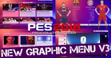 PES 2018 | NEW GRAPHIC MENU V3 | DOWNLOAD & INSTALL