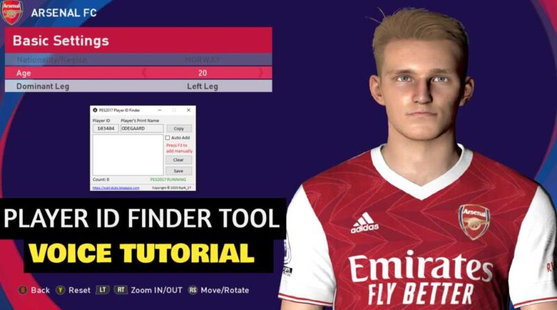 PES 2017 | PLAYER ID FINDER TOOL | VOICE TUTORIAL | DOWNLOAD & INSTALL