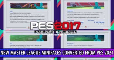 PES 2017 | NEW MASTER LEAGUE MINIFACES CONVERTED FROM PES 2021 | DOWNLOAD & INSTALL