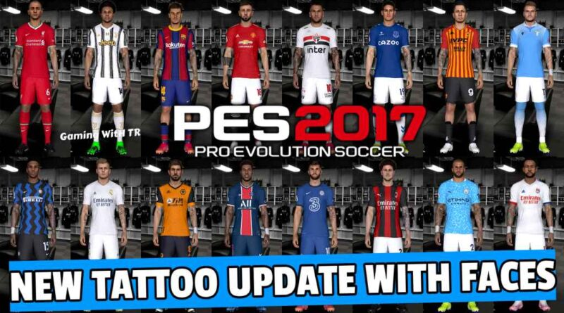PES 2017 | NEW TATTOO UPDATE WITH FACES | DOWNLOAD & INSTALL