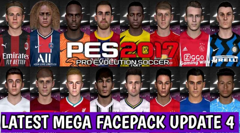 PES 2017 | LATEST MEGA FACEPACK UPDATE 4 | 569+ FACES FOR SMOKE PATCH | DOWNLOAD & INSTALL
