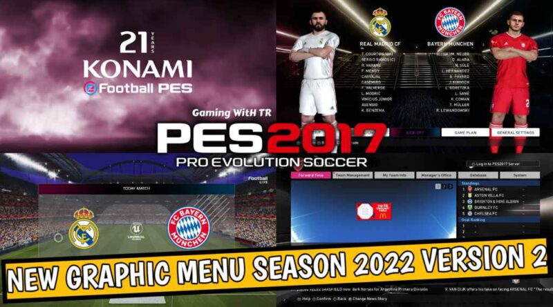 PES 2017 | NEW GRAPHIC MENU SEASON 2022 VERSION 2 | DOWNLOAD & INSTALL