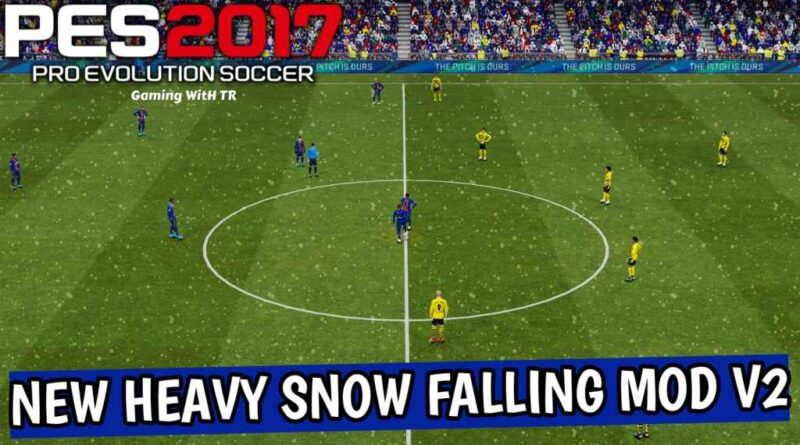 PES 2017 | NEW HEAVY SNOW FALLING MOD V2 | DOWNLOAD & INSTALL