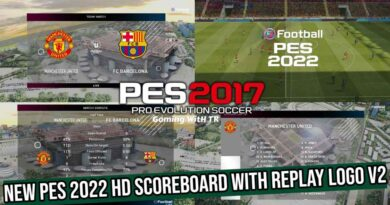 PES 2017 | NEW PES 2022 HD SCOREBOARD WITH REPLAY LOGO V2 | DOWNLOAD & INSTALL