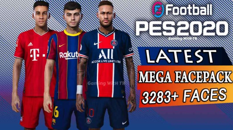 PES 2020 | LATEST MEGA FACEPACK | 3283+ FACES FOR SMOKE PATCH | DOWNLOAD & INSTALL