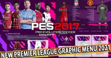 PES 2017 | NEW PREMIER LEAGUE GRAPHIC MENU 2021 | DOWNLOAD & INSTALL