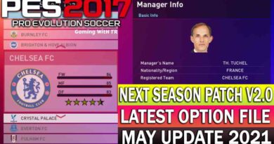 PES 2017 | LATEST OPTION FILE 2021 | NEXT SEASON PATCH V2.0 | MAY UPDATE UNOFFICIAL | DOWNLOAD & INSTALL