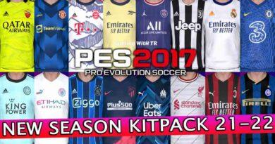 PES 2017 | NEW SEASON KITPACK 21-22 | VERSION 6 | DOWNLOAD & INSTALL