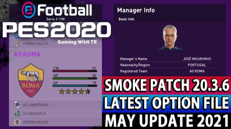PES 2020 | LATEST OPTION FILE 2021 | SMOKE PATCH 20.3.6 | MAY UPDATE UNOFFICIAL | DOWNLOAD & INSTALL