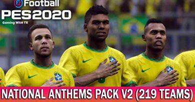 PES 2020 | NATIONAL ANTHEMS PACK V2 | 219 TEAMS | DOWNLOAD & INSTALL