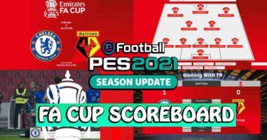 PES 2021 | FA CUP SCOREBOARD | DOWNLOAD & INSTALL