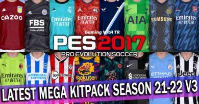 PES 2017 | LATEST MEGA KITPACK SEASON 2021-2022 V3 | DOWNLOAD & INSTALL