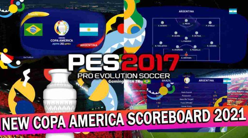 PES 2017 NEW COPA AMERICA SCOREBOARD 2021