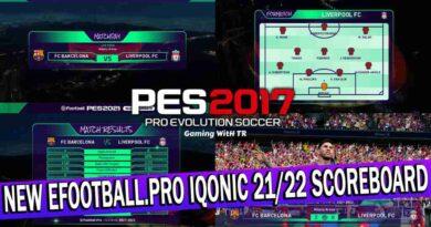 PES 2017 | NEW EFOOTBALL.PRO IQONIC 2021/2022 SCOREBOARD | DOWNLOAD & INSTALL