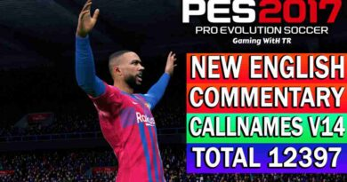 PES 2017   NEW ENGLISH COMMENTARY 2021 & PLAYERS CALLNAMES V14   DOWNLOAD & INSTALL