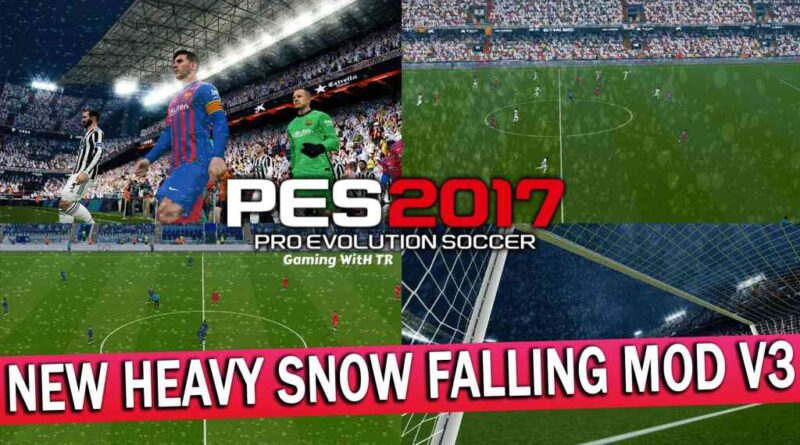 PES 2017 | NEW HEAVY SNOW FALLING MOD V3 | DOWNLOAD & INSTALL