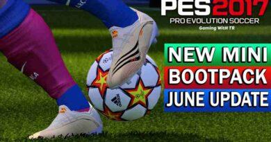 PES 2017 NEW MINI BOOTPACK UPDATE JUNE 2021