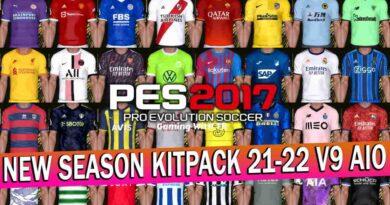 PES 2017 NEW SEASON KITPACK 21-22 V9 AIO