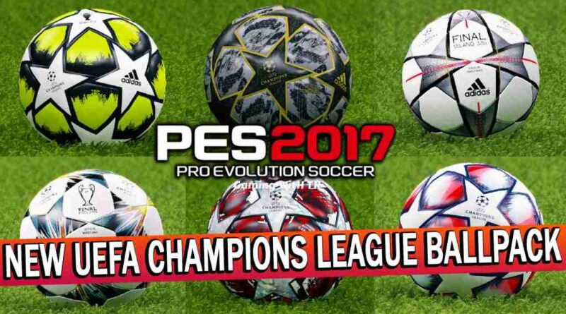 PES 2017   NEW UEFA CHAMPIONS LEAGUE BALLPACK   DOWNLOAD & INSTALL