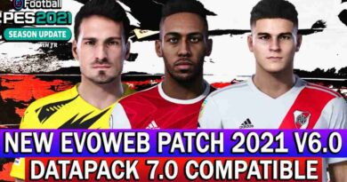 PES 2021 NEW EVOWEB PATCH 2021 VERSION 6.0 DATAPACK 7.0 COMPATIBLE