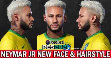 PES 2021 NEYMAR JR NEW FACE & HAIRSTYLE