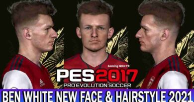 PES 2017 BEN WHITE NEW FACE & HAIRSTYLE 2021