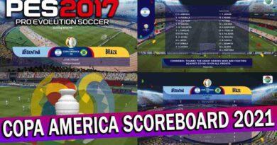 PES 2017 LATEST COPA AMERICA SCOREBOARD 2021